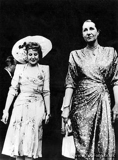 Madame Eva Duarte De Peron with the wife of the French President Mme Vinceri Auriol seen leaving the President's house French Pictures, Vintage Pictures, Queen, Madame, Stock Pictures, Royalty Free Photos, Glamour, Actresses, Style Inspiration