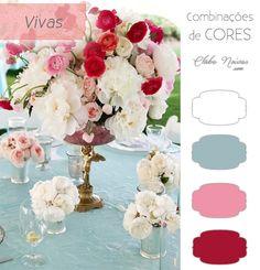 Combinação de Cores Vivas Para Decoração - Azul, Rosa, Vinho e Branco