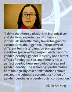 Interesting write-up on biology, sex, gender and gender identity by Malin Ah-King. http://crossdreamers.tumblr.com/post/131432624137/biological-sex-is-not-binary-feminist-times