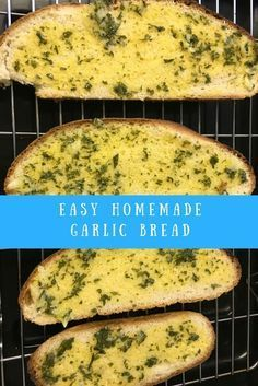 Easy homemade garlic bread. Garlic butter ready in seconds. Garlic croutons, garlic bread, garlic toast, garlic naans