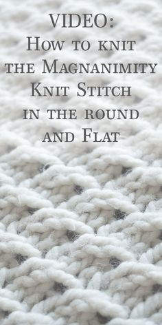 How to knit the Magnanimity knit stitch in the round and flat – Brome Fields
