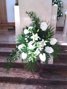 Visit the post for more. Church Flower Arrangements, Funeral Arrangements, Church Flowers, Bride Bouquets, Floral Bouquets, May Designs, Holidays And Events, Flower Pots, Floral Design