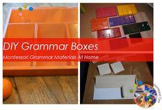 DIY Grammar Boxes, Montessori Grammar Materials At Home