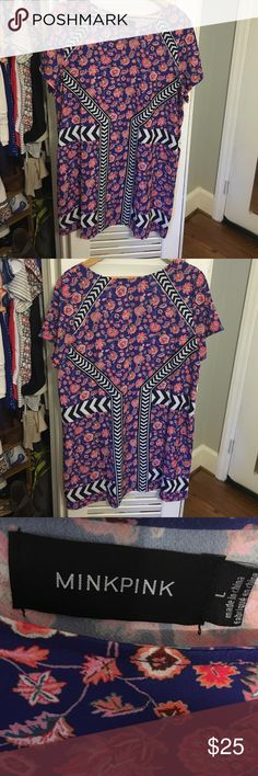 MINKPINK minidress MINKPINK printed minidress. Worn only a couple of times. In great condition! MINKPINK Dresses Mini