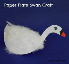 Paper Plate Swan Craft - to go with the book The Ugly Ducking