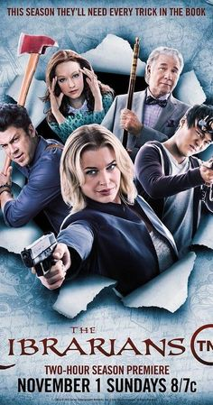 Created by John Rogers. With Rebecca Romijn, Christian Kane, Lindy Booth, John Harlan Kim. A group of librarians set off on adventures in an effort to save mysterious, ancient artifacts.