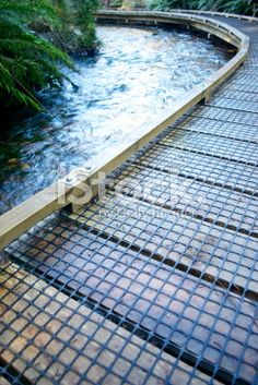 Boardwalk across River, New Zealand. Wooden Path, Deep Photos, Low Angle, Photography For Sale, Image Now, Pathways, Wilderness, New Zealand, Zen