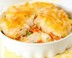 Tourte allégée de poulet au curry et à la pâte filo : http://www.fourchette-et-bikini.fr/recettes/recettes-minceur/tourte-allegee-de-poulet-au-curry-et-la-pate-filo.html