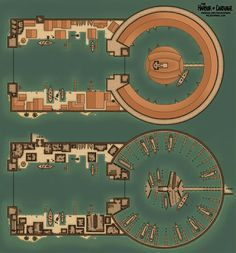 Map of the Kothoa - The Dual Harbor of Ancient Carthage : battlemaps Fantasy City, Fantasy Map, Fantasy Places, Ship Map, Minecraft Blueprints, Minecraft Designs, Rome City, Dungeons And Dragons Homebrew, Dungeon Maps