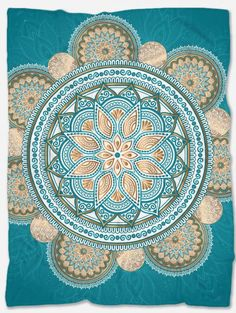 Provide warmth and comfort with this Teal Mandala Blanket. With its incredible design and vibrant colors, it will make your home even more beautiful. Not only that but it will make you feel extreme coziness with its soft and warm fabric. Mandala Blanket, Polar Fleece Blankets, Mandala Design, Teal Blue, Vibrant Colors, The Incredibles, Warm, Make It Yourself, Feelings
