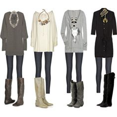 loose sweater + #leggings + boots = #fall's #outfit