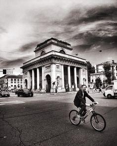 Square. Milan Italy.  #milan #milano #milano_bnw #igersmilano #ig_milano #milanodavedere #milanodaclick #bellamilano #visitmilano #vivo_milano #loves_milano #italy #italia #bnw #bnw_captures #bnw_rose #bnw_planet #bnw_lombardia  #bnw_greatshots #bnw_society #bnw_life #bnw_demand  #amateurs_bnw #rsa_bnw #the_bestbw #photooftheday #bike #square #street #portavenezia by milano_bnw