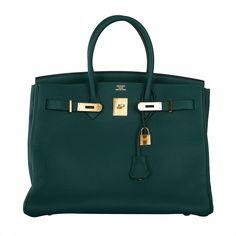 1stdibs.com - Modern Fashion - Accessories | New Color Hermes Birkin Bag 35cm Malachite Gold Hardware
