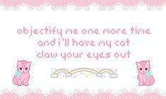 Spotlight on: Subversive Kawaii Pastel Goth Quotes, Kawaii Quotes, Im Losing My Mind, Creepy Cute, Mood Pics, Pink Aesthetic, Feelings, Words, Funny