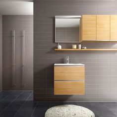 Badrum inspiration -  Klassiskt badrum i ek - Happie