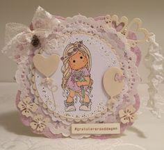Heidis kortlagingsblogg: Rosa jentekort 1 Magnolia, 1, Teddy Bear, Christmas Ornaments, Holiday Decor, Design, Home Decor, Xmas Ornaments, Homemade Home Decor