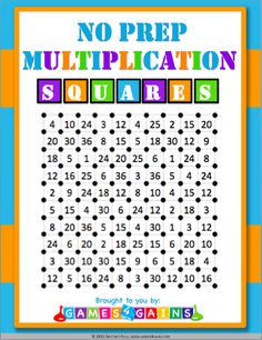 Download your free multiplication squares game!