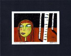 Still Searching  dark outsider folk art by MurphyAdamsStudio, $20.00