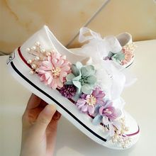 Cheap Women& Vulcanize Shoes, Buy Directly from China New Cozy Fantasy Seven-color Flower Pearl Austria Rhinestone Yarn Lace Thick sole Single shoes Canvas shoes QIAOJINGREN Zapatos Bling Bling, Bling Converse, Bling Shoes, Women's Shoes, Fall Shoes, Kid Shoes, Platform Shoes, Diy Fashion, Fashion Shoes