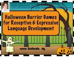 Another barrier games set for building receptive and expressive language skills in speech therapy or classrooms. (Revised 3-15)There are:2 haunted house scenes, 3 spooky backgrounds in both color & b/w, and one additional spooky photo scene to use as the backgrounds, almost 40 pictures of objects and people to use to set into the scenes iIn addition to the smaller images for the mini-scenes).This set was revised 3-15 with the additional scenes. $3.50