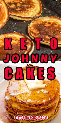 Low Carb Pancakes, Low Carb Bread, Keto Bread, Fried Cornbread, Cornbread Cake, Low Carb Desserts, Low Carb Recipes, Baking Recipes, Hoe Cakes