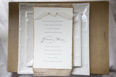 Beige & white, neutral wedding #wedding invitations & wedding stationery ... Wedding ideas for brides, grooms, parents & planners ... https://itunes.apple.com/us/app/the-gold-wedding-planner/id498112599?ls=1=8 … plus how to organise an entire wedding ♥ The Gold Wedding Planner iPhone App ♥