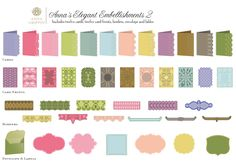 Ann Griffin Elegant Embellishments 2 Cricut cartridge images - sheet 2 of 2 - 4/16 autoship from Ribbons and Bows cartridge purchase in January