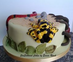 Poisonous Critters Cake. SinSational Cakes by Emma Riach.