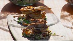 Seared quail for Chardonnay