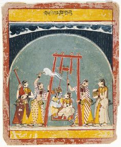 Hindola Raga, Folio from a Ragamala (Garland of Melodies) India Painting, Indian Artist, Art And Architecture, Garland, Medieval, Paintings, History, Drawings, Collections
