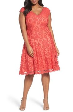 Tadashi Shoji Embroidered Fit & Flare Dress (Plus Size) available at #Nordstrom
