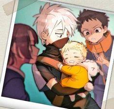 Kakashi, Obito, Rin, and baby Naruto