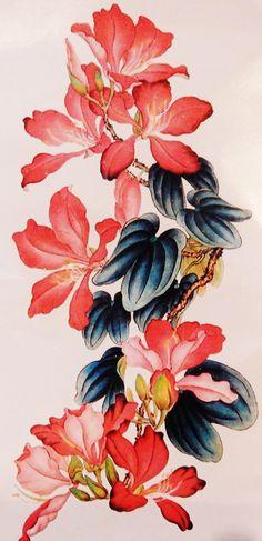 Chinese Ink Brush Painting Temporary Tattoo