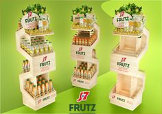 Hang a Shelf Over a Door or Window for Display Items Exhibition Display Stands, Pos Display, Bottle Display, Counter Display, Display Design, Product Display, Display Ideas, Pos Design, Signage Design
