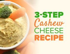 3-Step Cashew Cheese Recipe Vitamix Recipes, Raw Food Recipes, Low Carb Recipes, Dairy Free Cheese, Homemade Seasonings, Wheat Belly, Other Recipes, Cashew Cheese, Vegan Dishes
