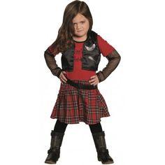 Déguisement punk fille rock star
