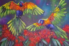 """SOLD """"Sweet nectar of life"""" by Kristy Flynn. Paintings for Sale. Bluethumb - Online Art Gallery"""