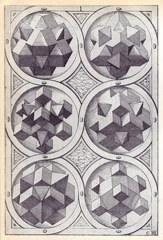 Terra (c) - Perspectiva Corporum Regularium -  Wenzel Jamnitzer 1568 by peacay, via Flickr