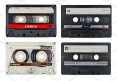 Old cassette tapes by mactrunk. set of old cassette tapes isolated on white. Technology Photos, Digital Technology, Sony, Retro Camera, Business Branding, Twins, Design, Diner Restaurant, Cassette Tape
