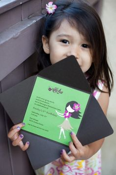 she is such a cutie! // Hula invite
