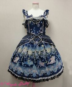 Angelic Pretty Aquarium Carnival Peplum - Navy