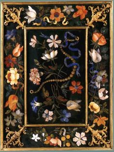 Pietre Dure Plaque. Panel from a Clock Cabinet Grand Ducal Workshop, Florence, 17th century