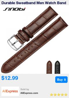 Durable Sweatband Men Watch Band cowhide Soft Geniune Leather Strap Watchband Gold/ Silver Steel Buckle Bands 20mm 22mm 24mm * Pub Date: 06:06 Apr 22 2017