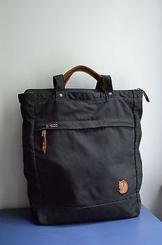 Fjallraven-Totepack-No-1-tote-backpack-black-very-good-used-condition