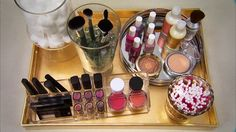 This makeup organization idea uses acrylic cosmetics organizers for a look that is stylish and functional. Here's how to DIY!