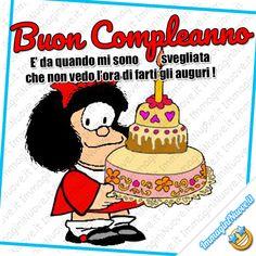 Buon Compleanno, è da quando mi sono svegliata che non vedo l'ora di farti gli auguri ! (Mafalda) Birthdays, Happy Birthday, Brown, Happy Brithday, Party, Pictures, Anniversaries, Urari La Multi Ani, Birthday