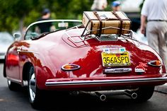 Wow! I was just saying today how much I love the luggage racks on old cars! I would love one of theses.