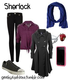 I don't even watch Sherlock but this outfit is perfect Sherlock Bbc, Sherlock Poster, Funny Sherlock, Sherlock Season, Sherlock Quotes, Watch Sherlock, Nerd Fashion, Fandom Fashion, Mode Masculine