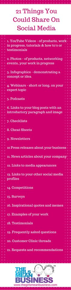 If you need a quick injection of inspiration for your social media posts, here are a few ideas to get you started. This is, clearly, not exhaustive but it might spark up your brain cells and help you come up with loads of amazing content. Here are just a few ideas for you to think about...