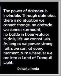 power of daimoku